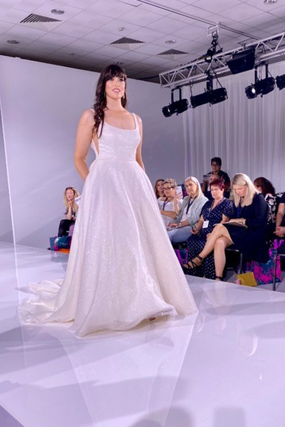 scoop neck dress from Opus Couture - Harrogate Bridal Show