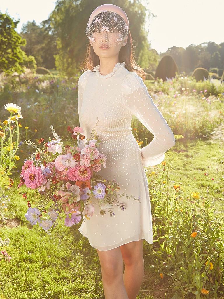 Temperley dreamer mini dress - short wedding dresses - featured image